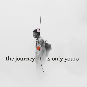The Journey is Only Yours text