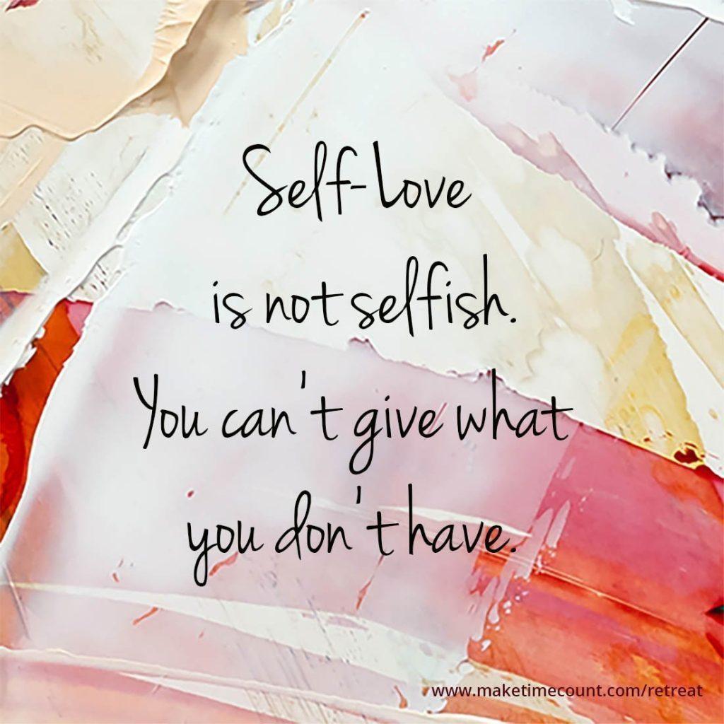 Finding self-love is not selfish