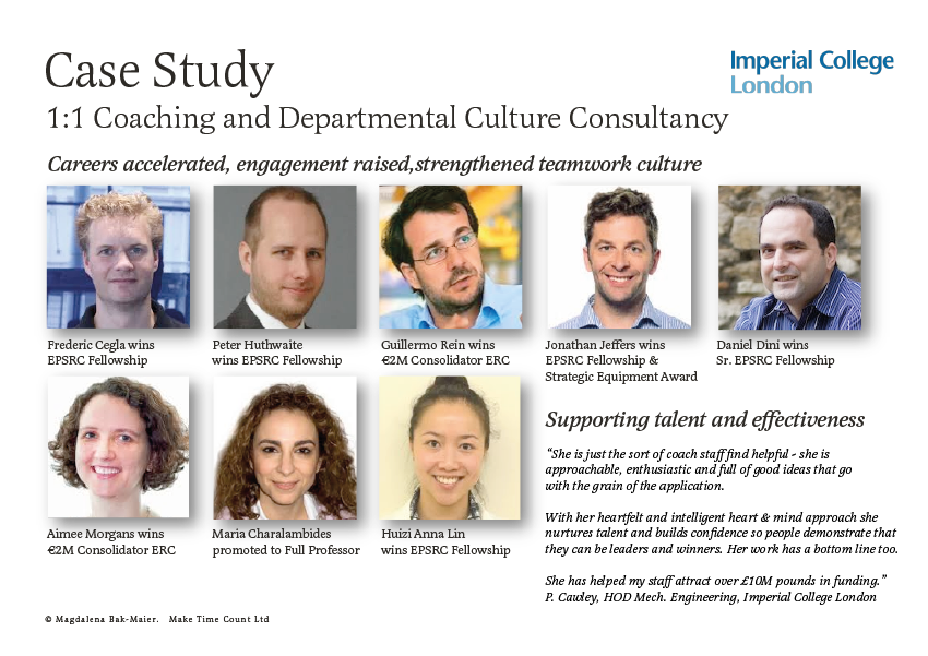 Coaching and Departmental Culture Consultancy at Imperial College London